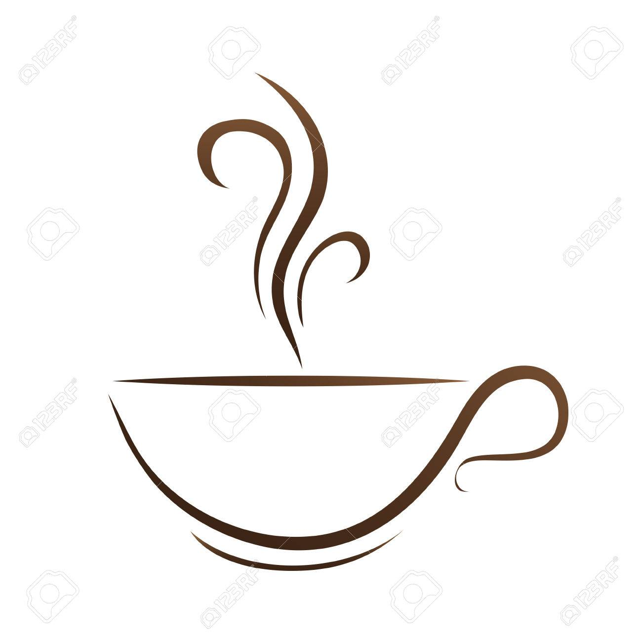hot coffee cup vector on a white background royalty free cliparts rh 123rf com coffee cup vector design coffee cup vector design