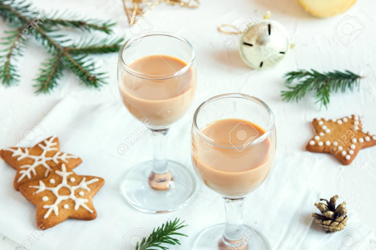 Chirstmas Irish Cream Coffee Liqueur - Homemade Traditional.. Stock ...