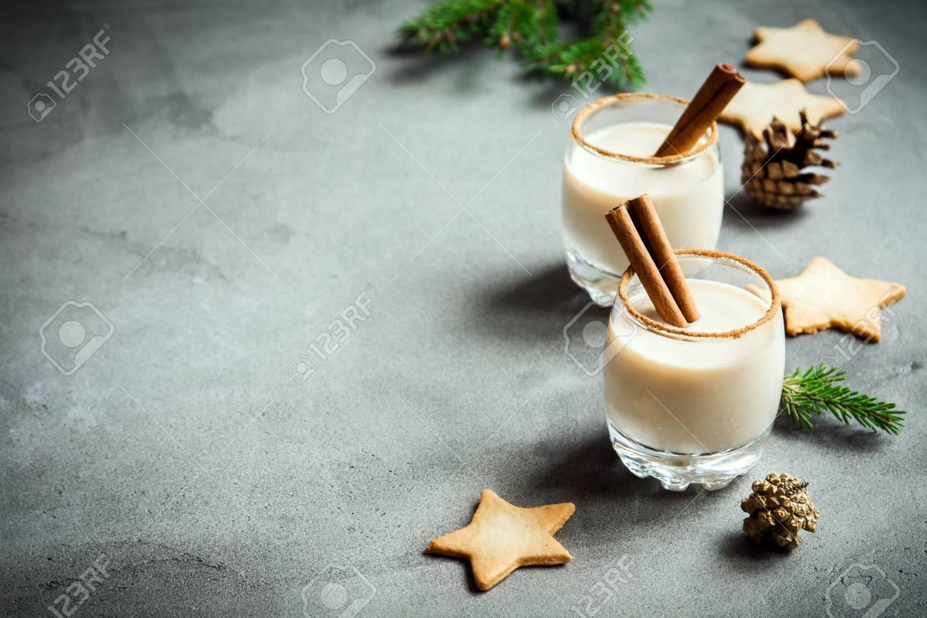 Eggnog With Cinnamon And Nutmeg For Christmas And Winter Holidays ...