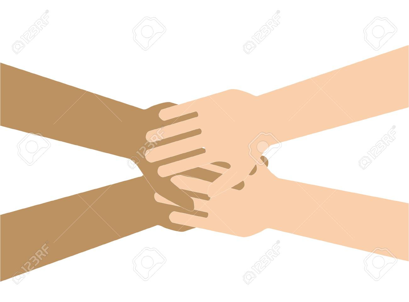 Team Symbol Hands Of All The Peoples Family Friendship Vector Royalty Free Cliparts Vectors And Stock Illustration Image 76325295