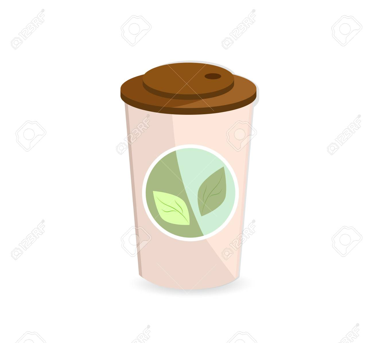 A paper glass (container) with hot tea. Icon tea. - 106217989