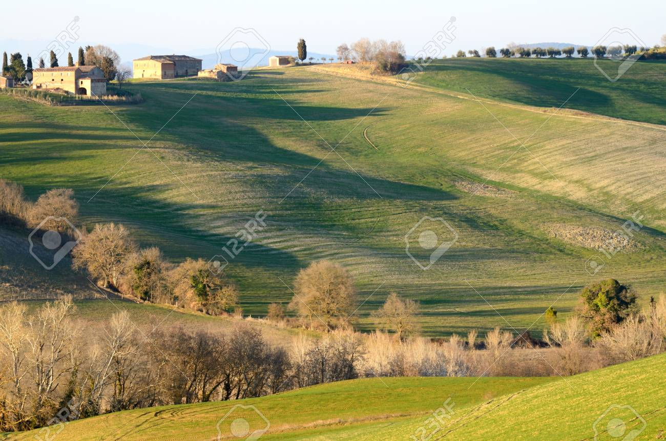Scenic view of typical Tuscany landscape, Italy Stock Photo - 12850051