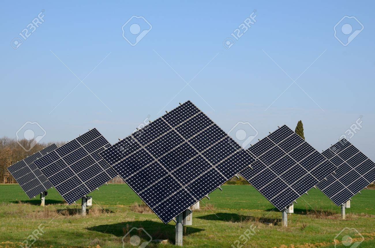 Thr Cleanenergy Will Allow To Reduce Pollution Stock Photo ...