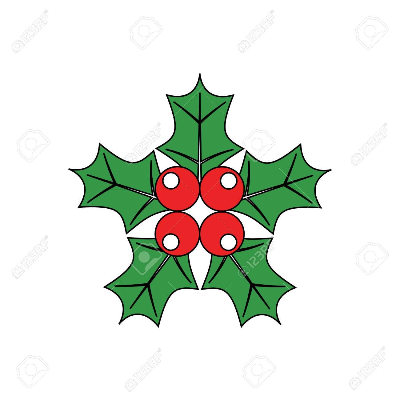 Dessin Anime Simple Gui Ornement Decoratif Rouge Et Vert Pour Noel