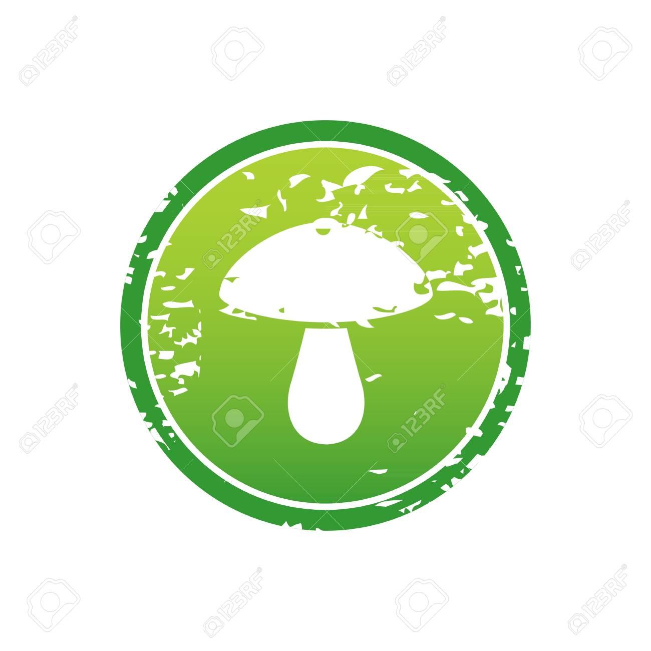 stylish mushroom symbol or template inside green frame illustration