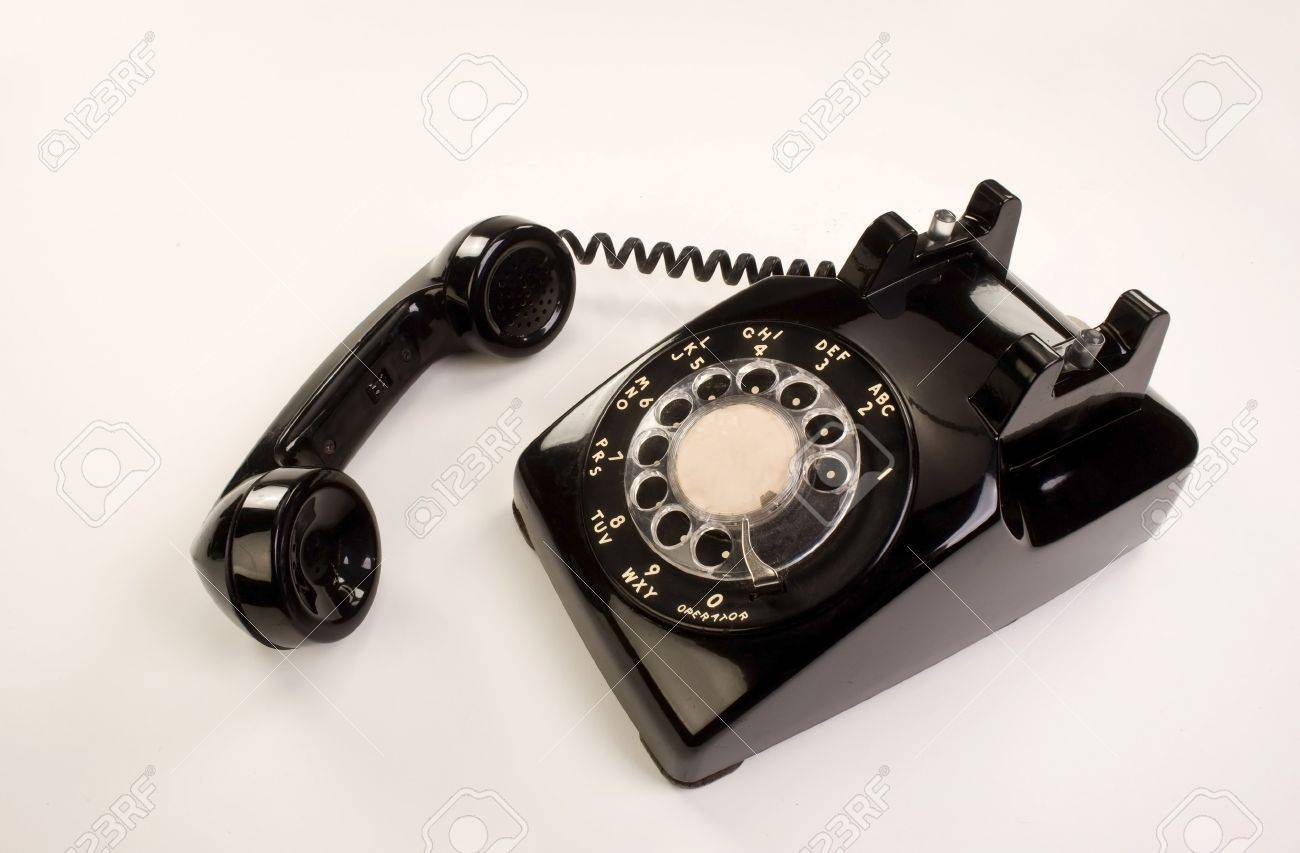 Old Style Rotary Telephone. Stock Photo - 14567684