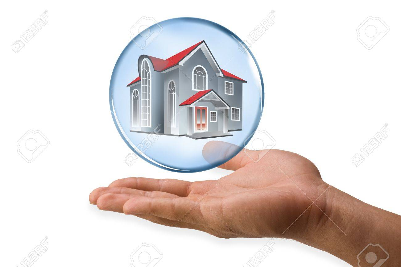 Home in Bubble Stock Photo - 15106786