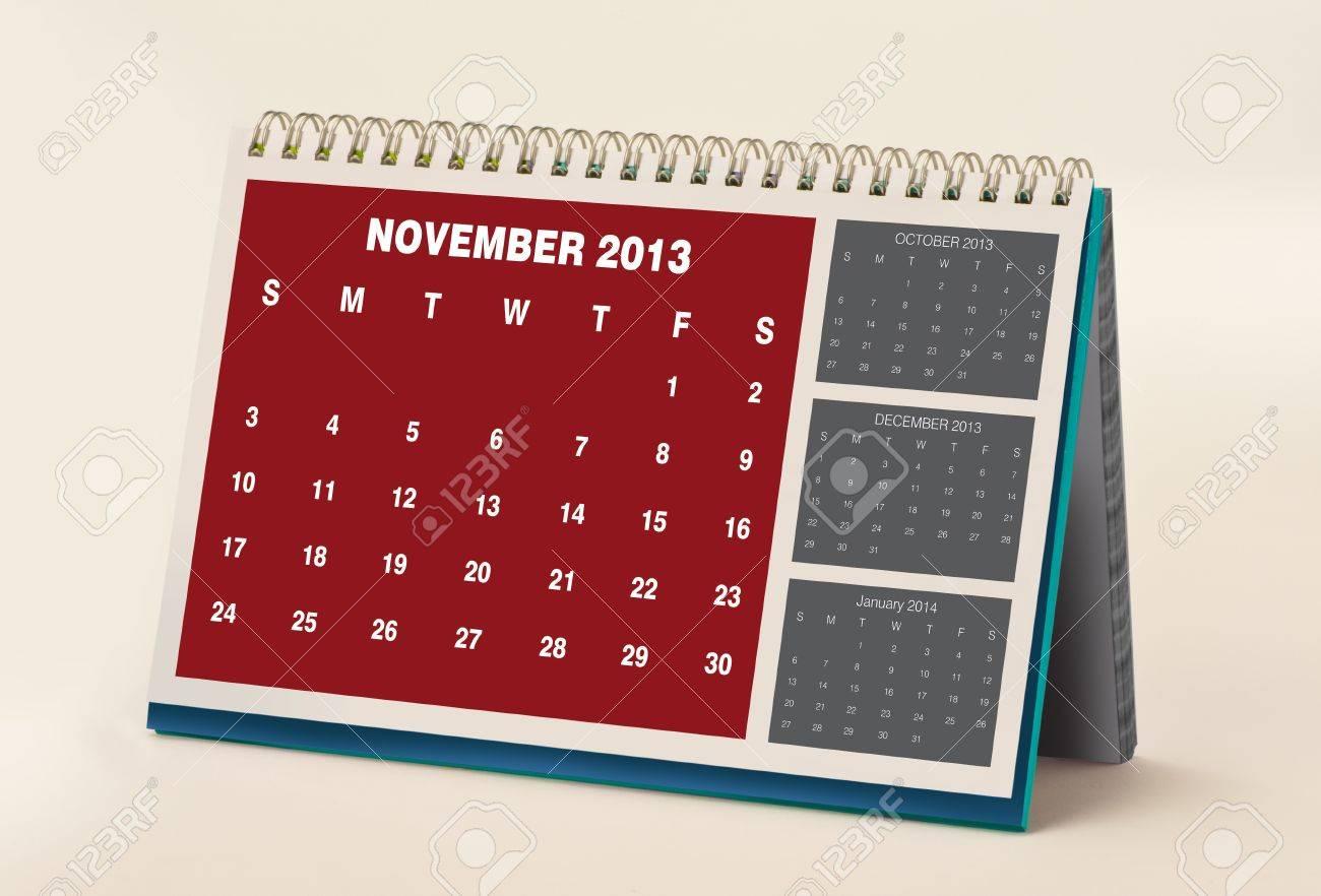 November 2013 Calendar Stock Photo - 15454453