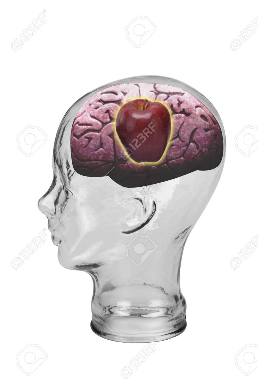 Red Apple Brain Stock Photo - 19668723