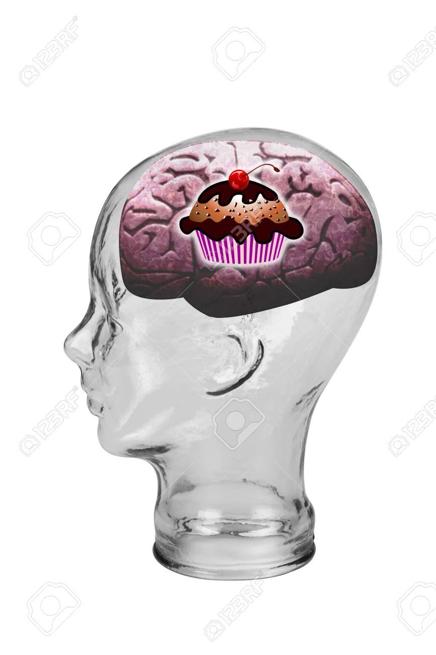 Cupcake brain Stock Photo - 19652810