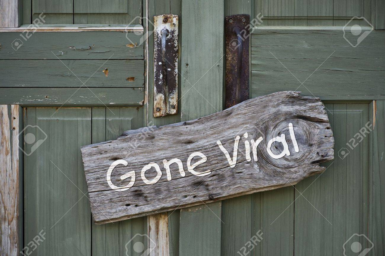 Gone Viral Sign Stock Photo - 22973541