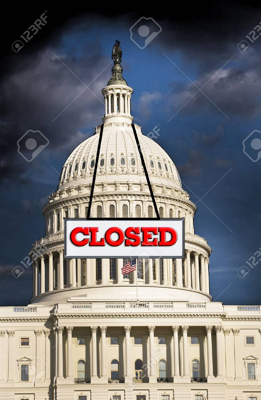 US  Congress closed for business Stock Photo - 23014382
