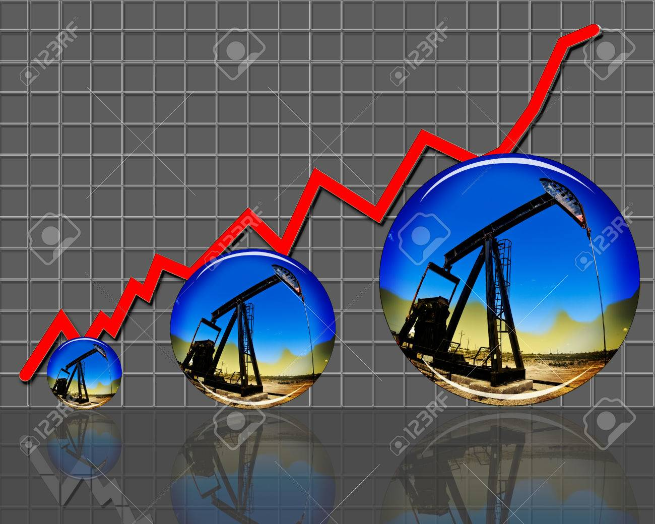 Oil prices and production going much higher Stock Photo - 22973666