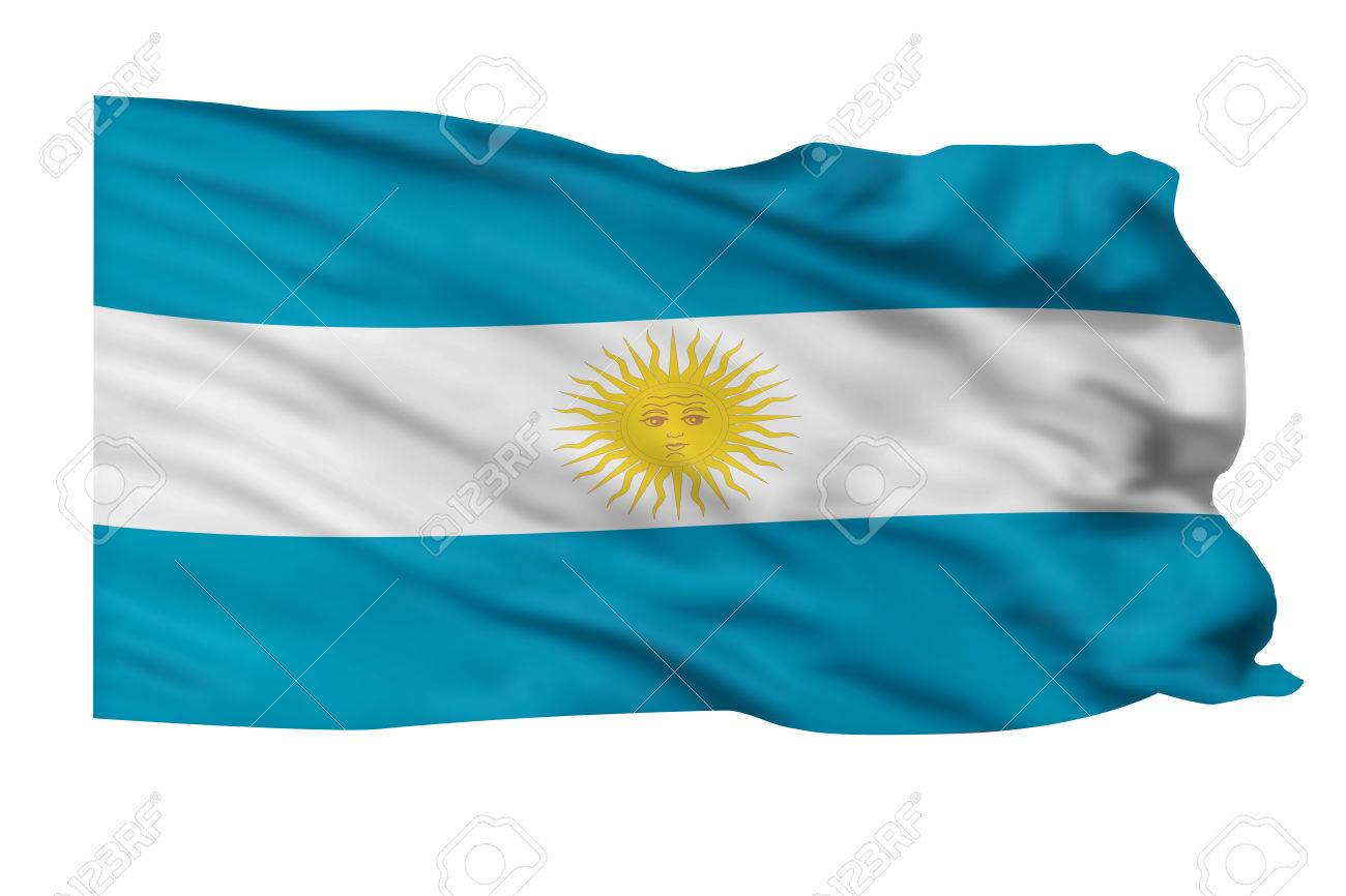 Flag of Argentina flying high in the sky. Stock Photo - 25313432