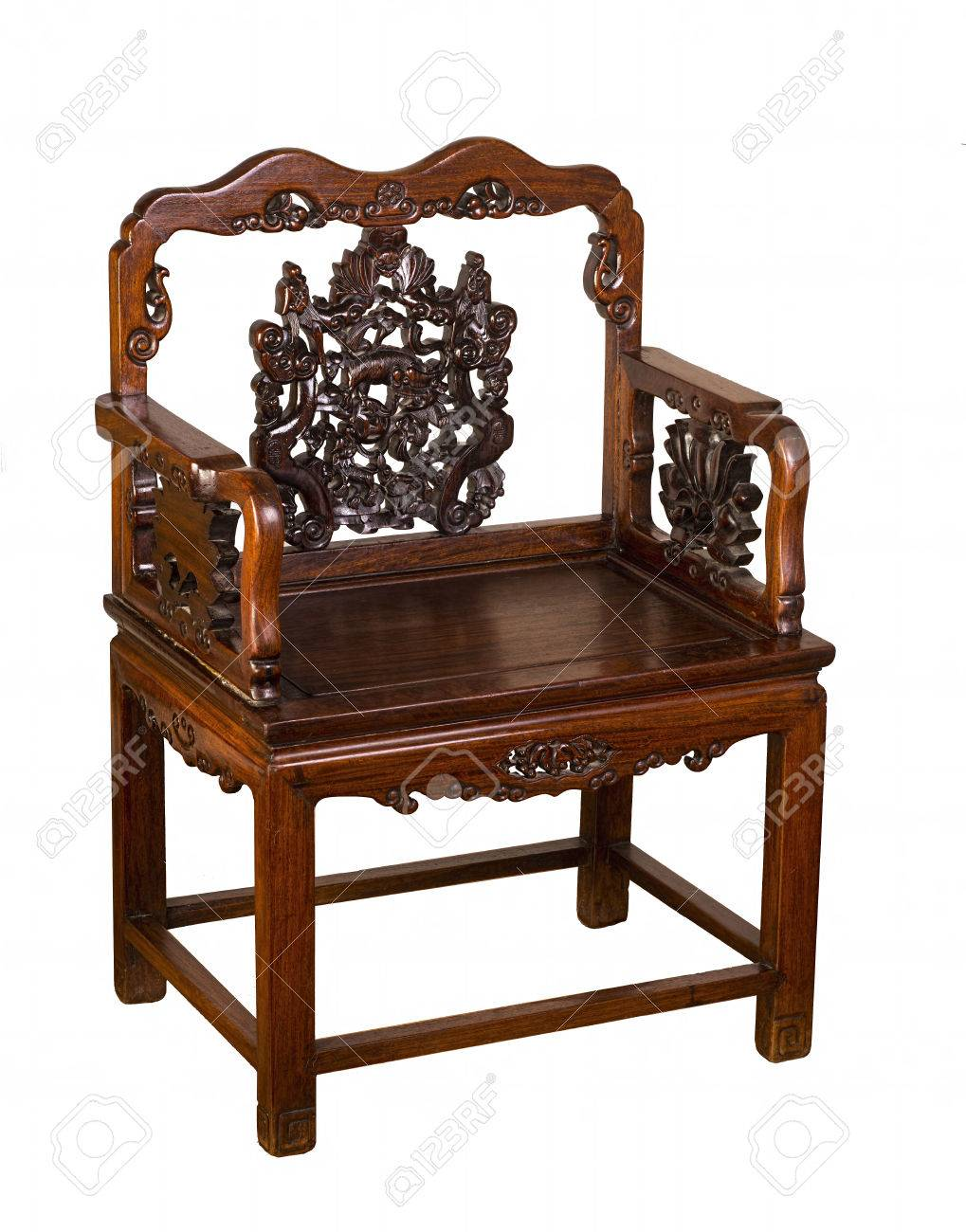 Antique Hung-Mu Chinese chair made in the early 1800's. Stock Photo -  29460635 - Antique Hung-Mu Chinese Chair Made In The Early 1800's. Stock