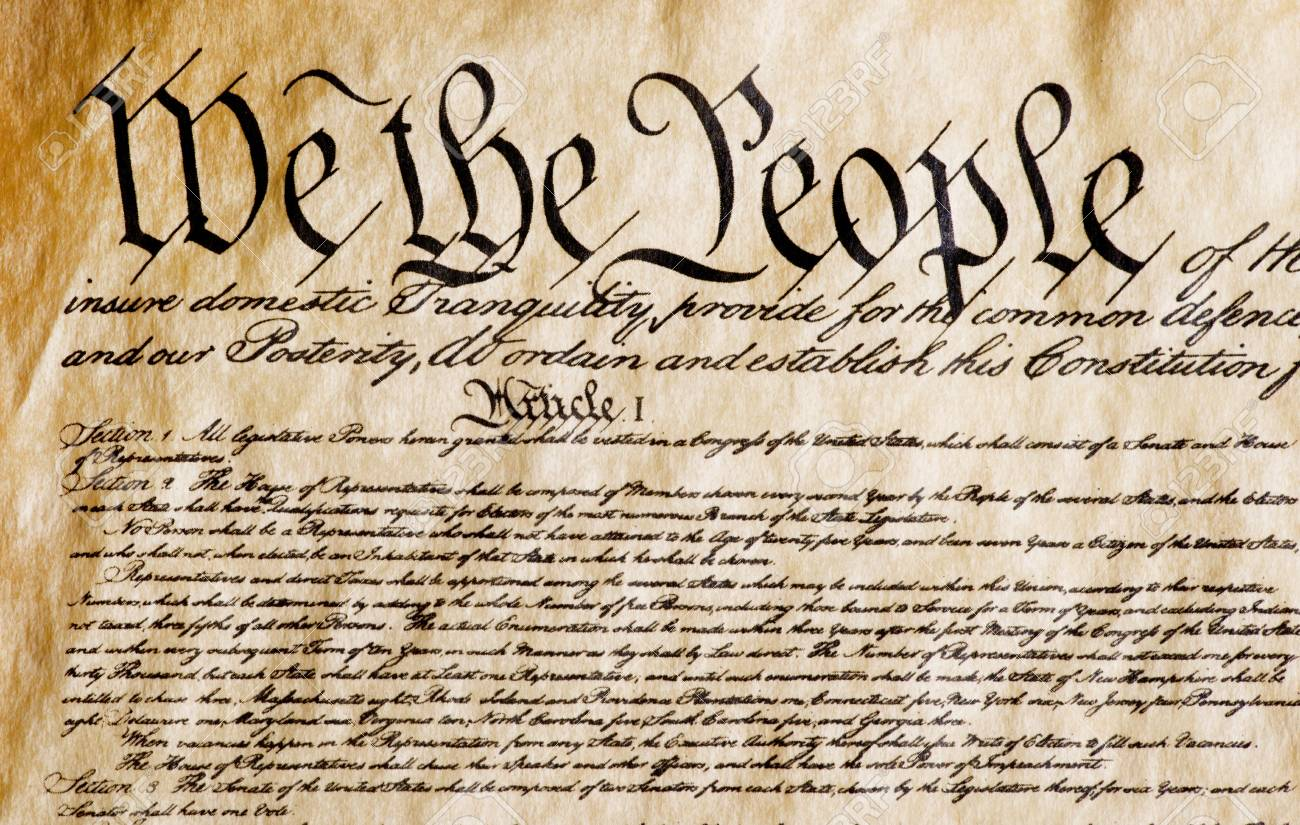 Constitution Of America, We The People. Stock Photo, Picture And Royalty Free Image. Image 96211694.