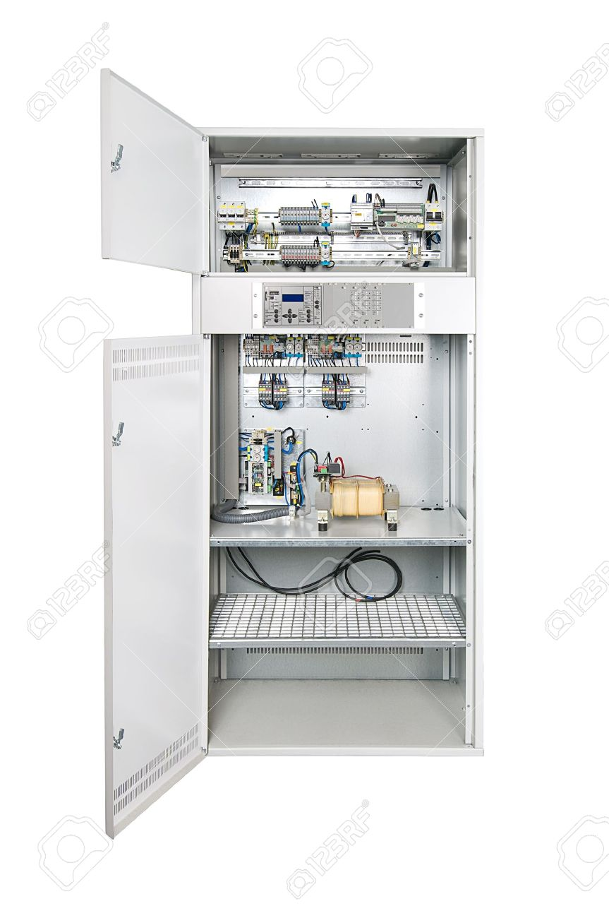 electrical enclosure with its door open could be electrical Circuit Panel Box  Electric Panel Breaker Box Main Electrical Panel Box Electric Fuse Box Panel Components