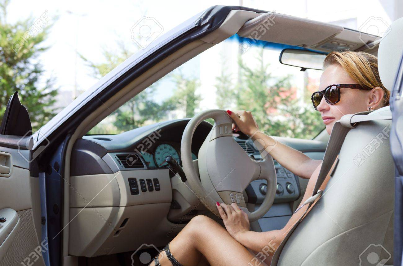 Woman driving a car Stock Photo - 11600099