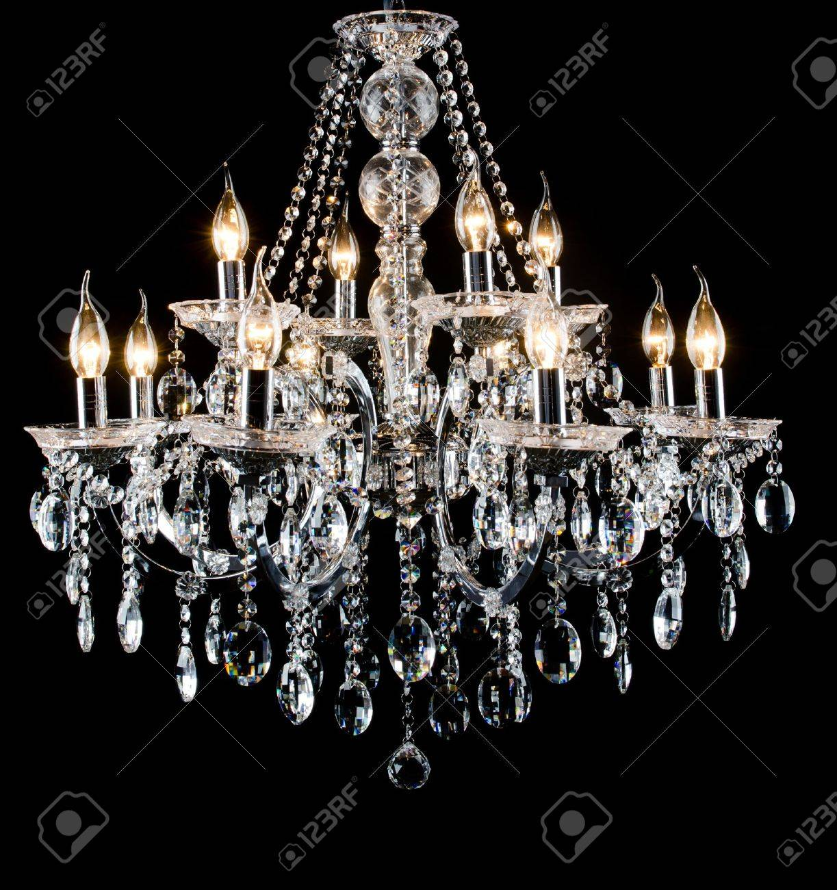 Contemporary glass chandelier - 16123686