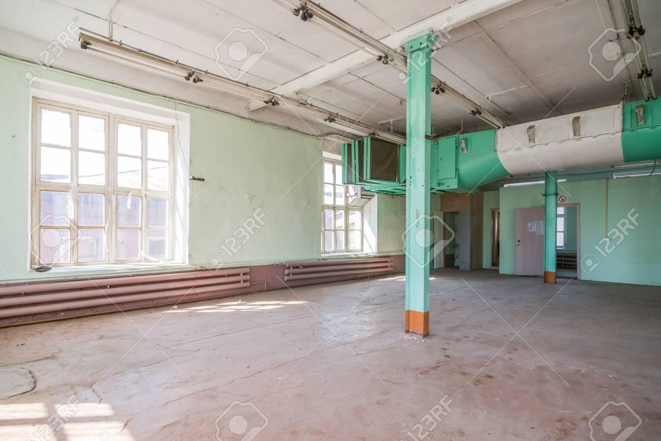 Bureau de lentrepôt vide ou zone commerciale industrielle fond