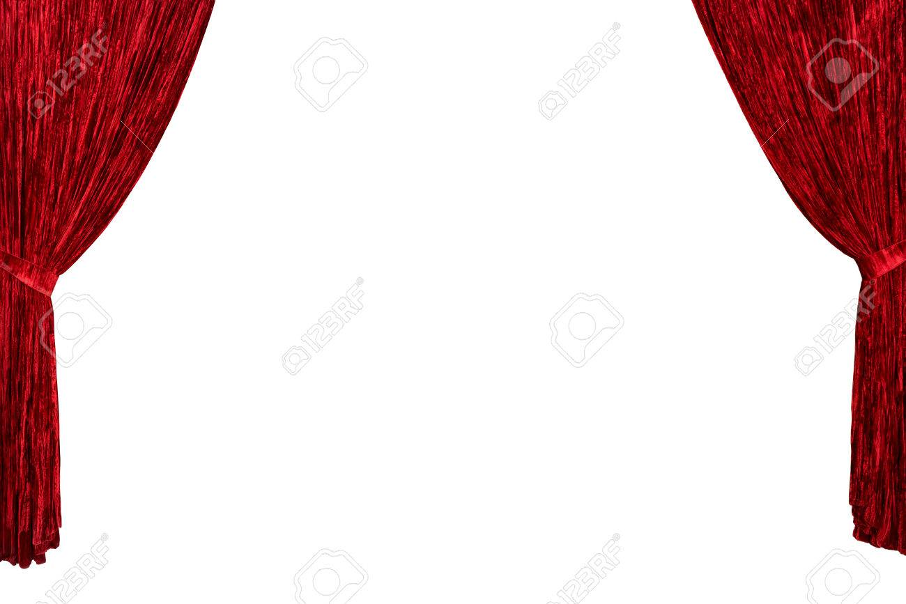 Red Theater Curtains From Both Sides With Room For Your Text Or Image Copyspace Background Stock