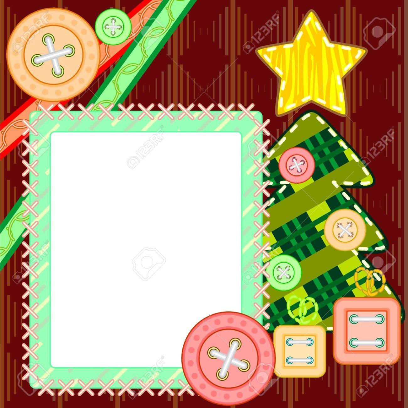 Scrapbook Template Für Silvester Oder Weihnachten Mit Tannenbaum Und ...