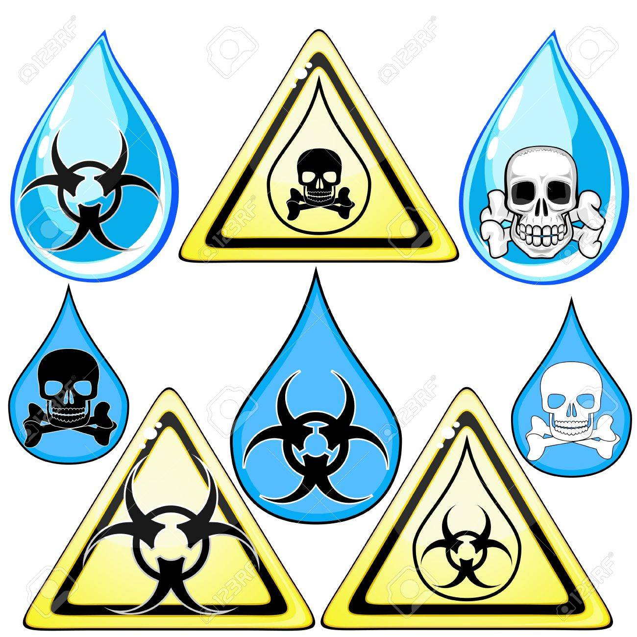 Set of signs and symbols for marking poison or dirty water royalty set of signs and symbols for marking poison or dirty water stock vector 14129353 biocorpaavc Image collections