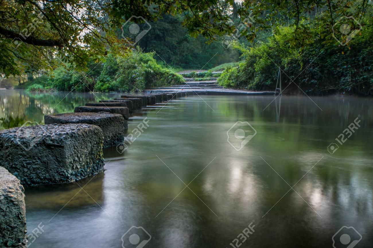 The Famous Stepping Stones At Boxhill In Surrey England Going