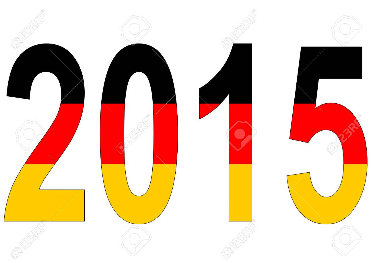 2015 in Germany colors on white background Stock Vector - 29494877