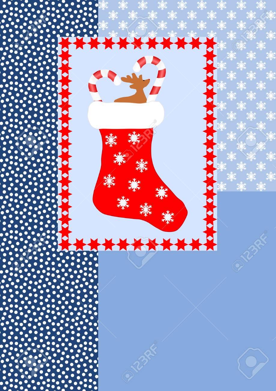 Una Media De La Navidad Roja Llena Superó Con Estrellas Rojas En ...