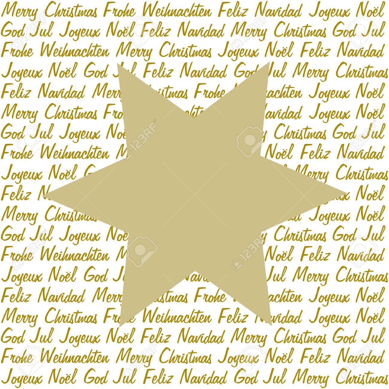 Weihnachtsgrüße In Verschiedenen Sprachen.Stock Photo