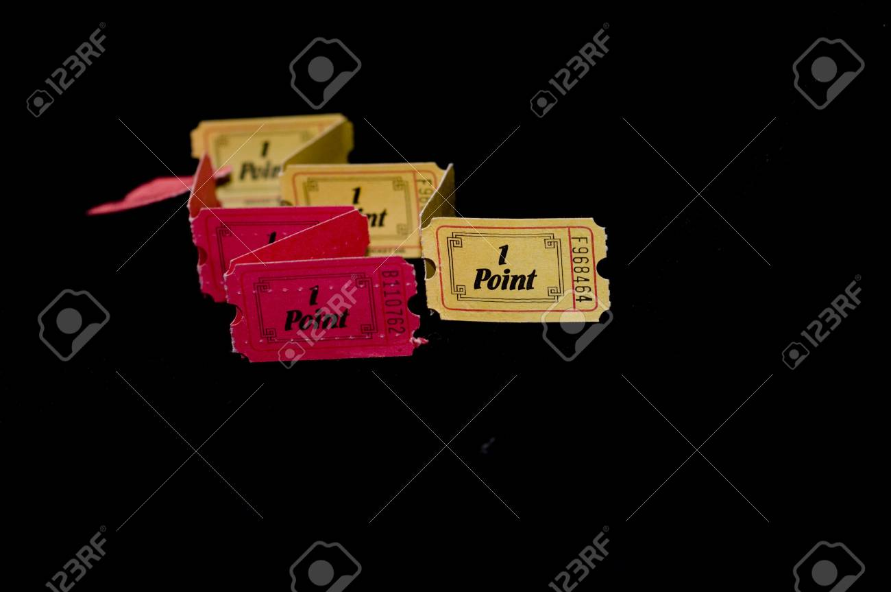 Two color entry ticket Stock Photo - 4895558