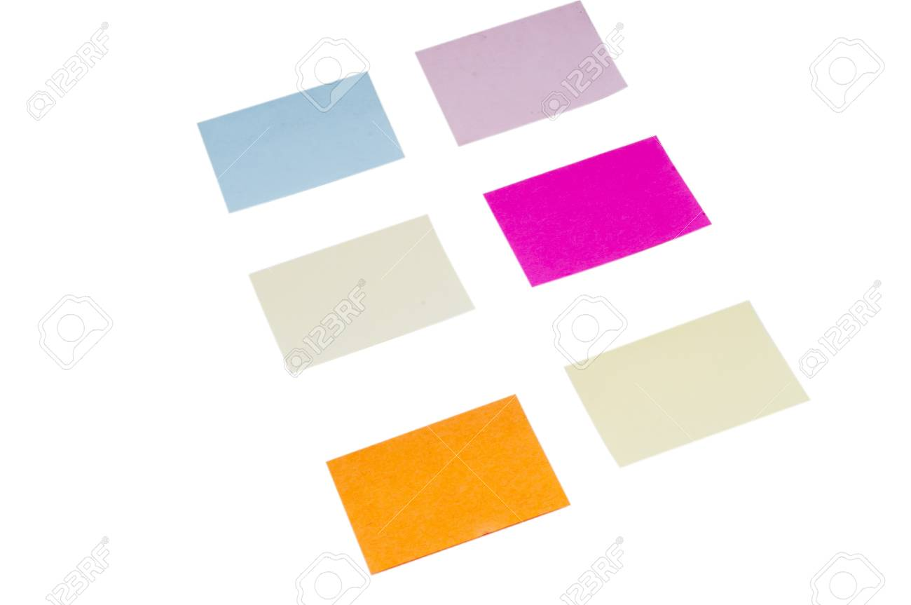Colorful POST IT paper on isolated white background Stock Photo - 12544214