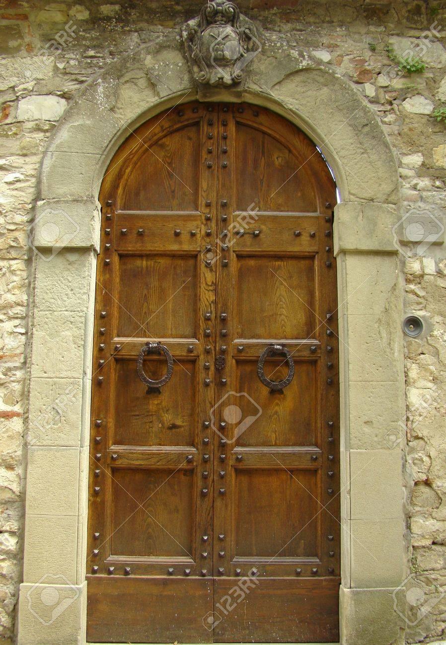 elegant entrance with family coat in Tuscany Stock Photo - 5681489