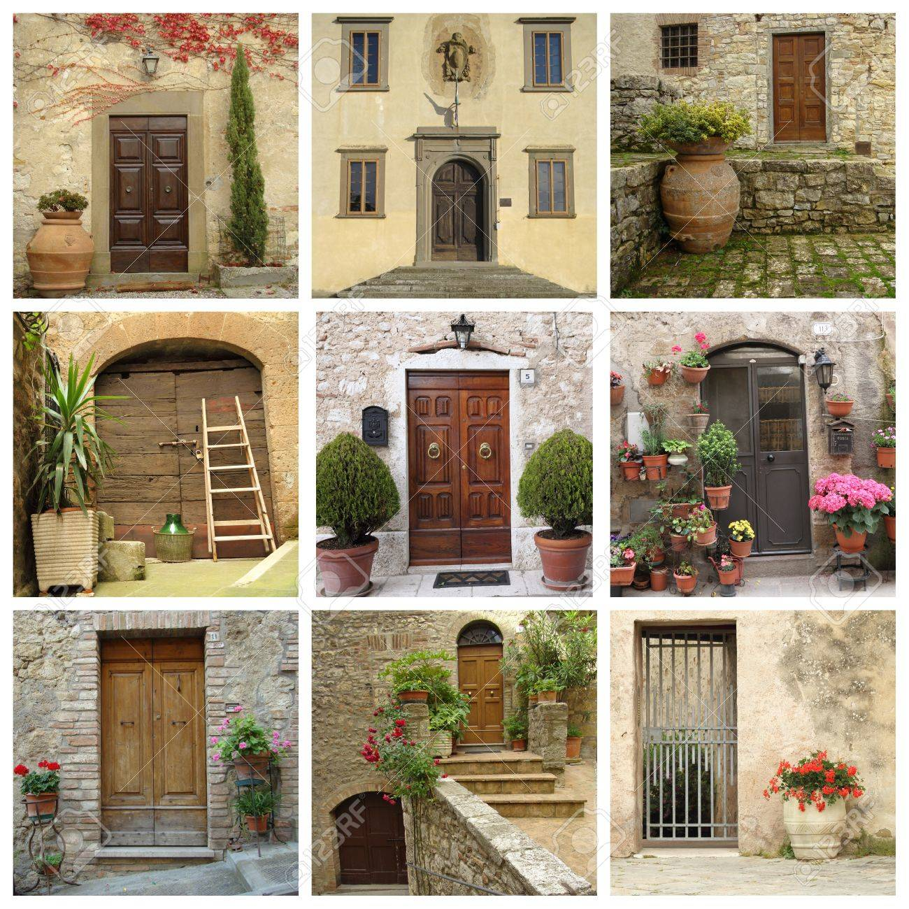 collage of front doors Tuscany Stock Photo - 8984371 & Collage Of Front Doors Tuscany Stock Photo Picture And Royalty ...