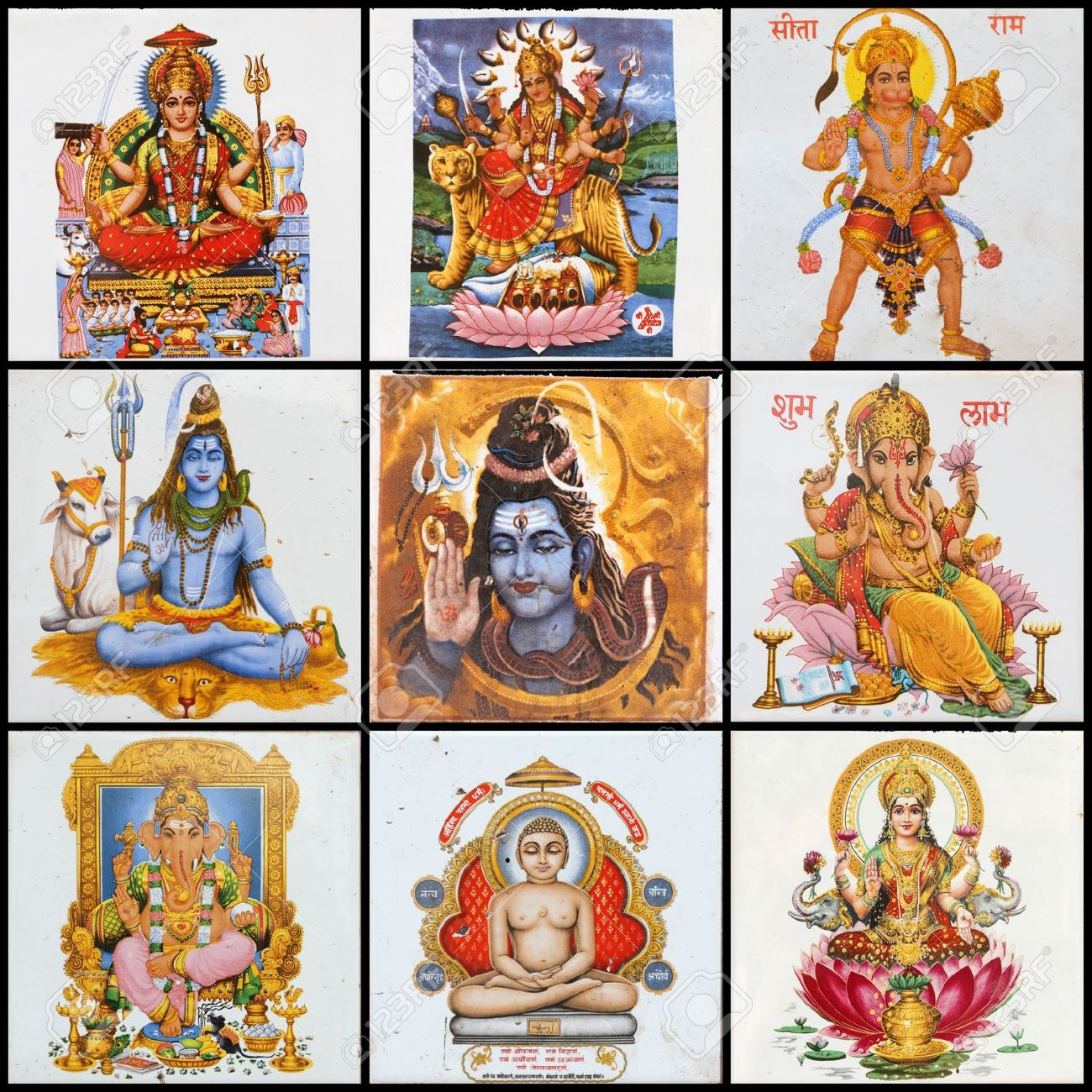 Pantheon - Collage Of Hindu Gods Stock Photo, Picture And Royalty ...