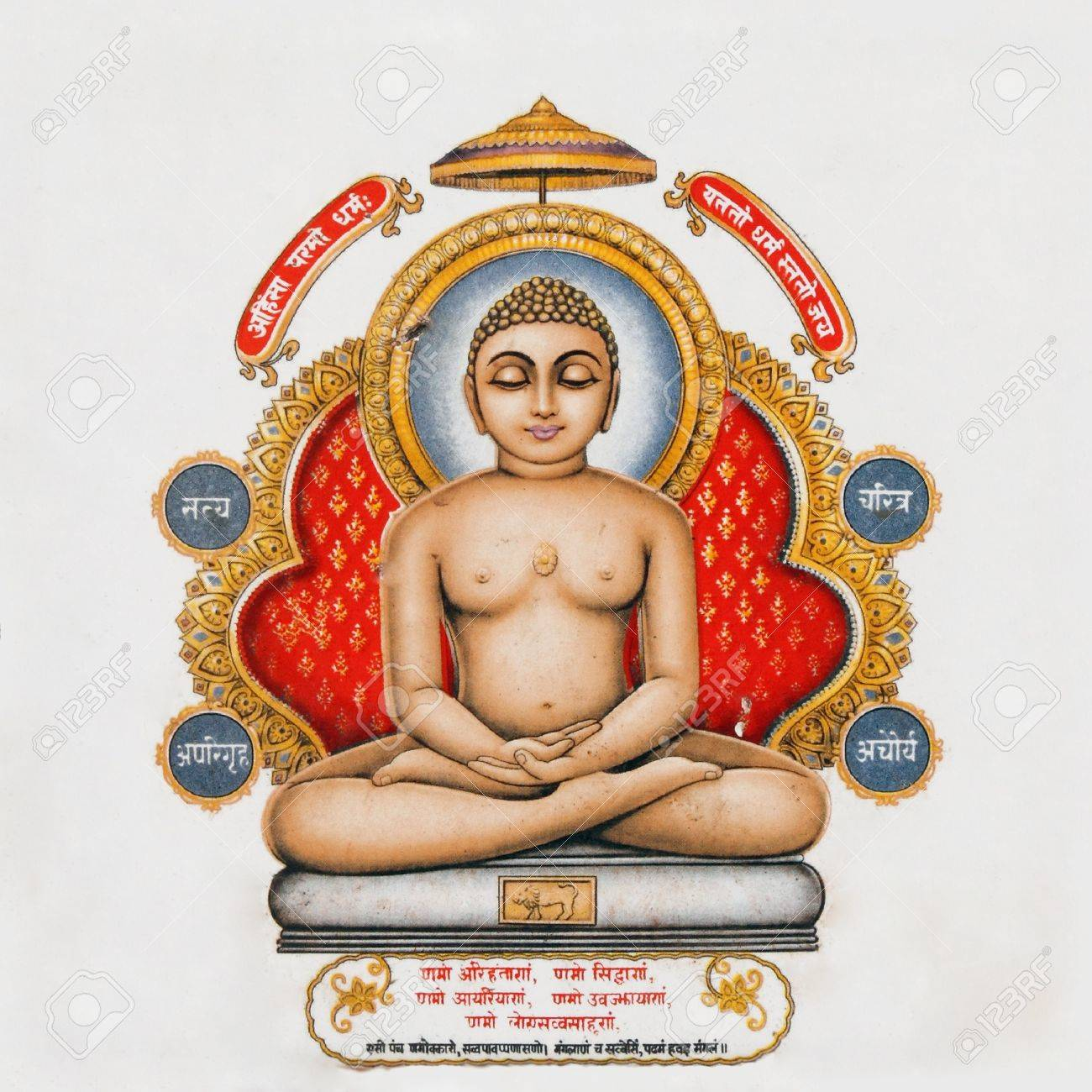 image of Buddha on antique pottery tile Stock Photo - 10890282