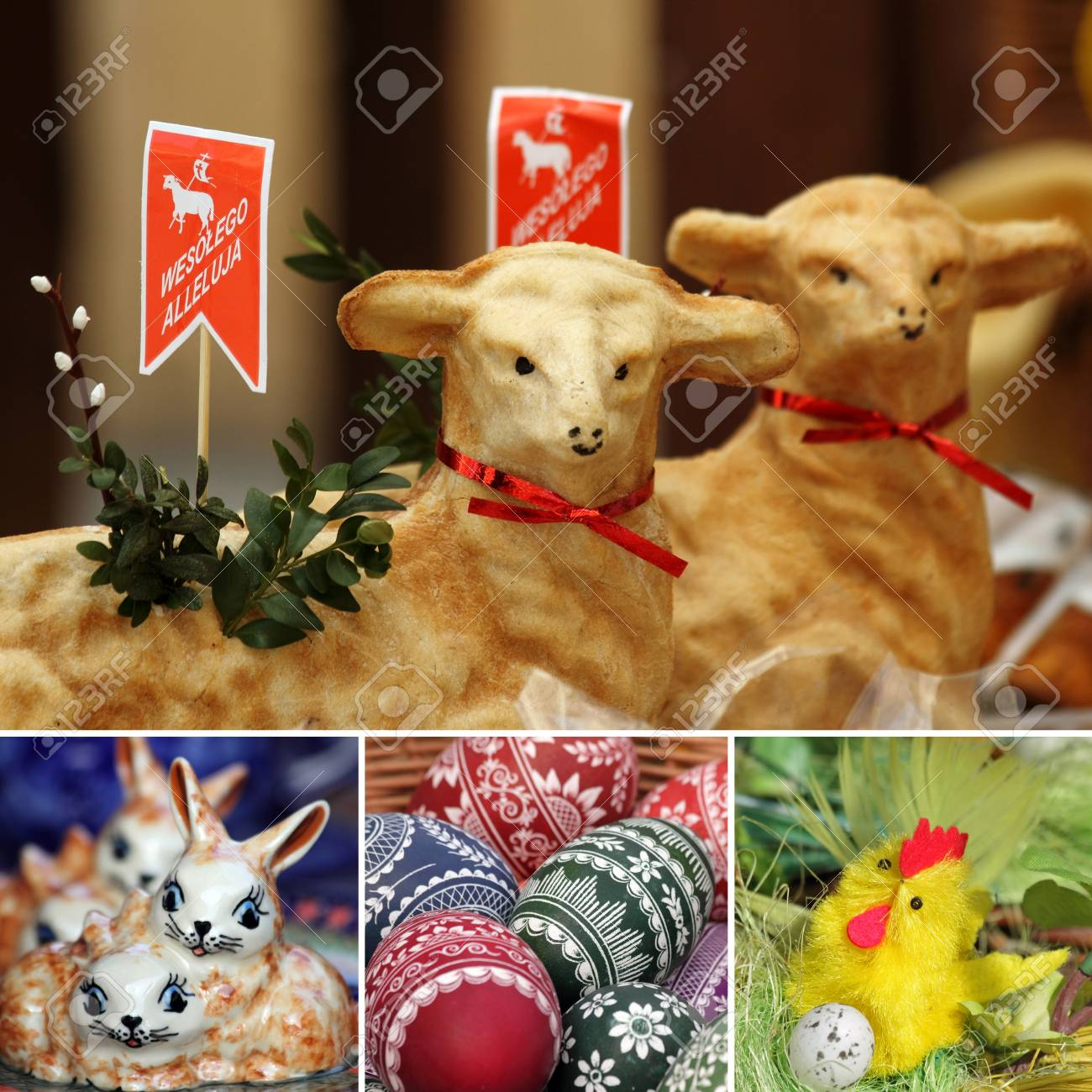 composition of easter decorations from Poland Stock Photo - 12532195