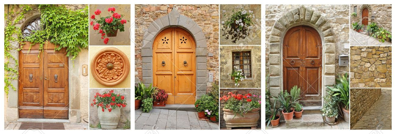 abstract doorways set to the tuscan houses Italy Europe Stock Photo - 14586364 & Abstract Doorways Set To The Tuscan Houses Italy Europe Stock ...