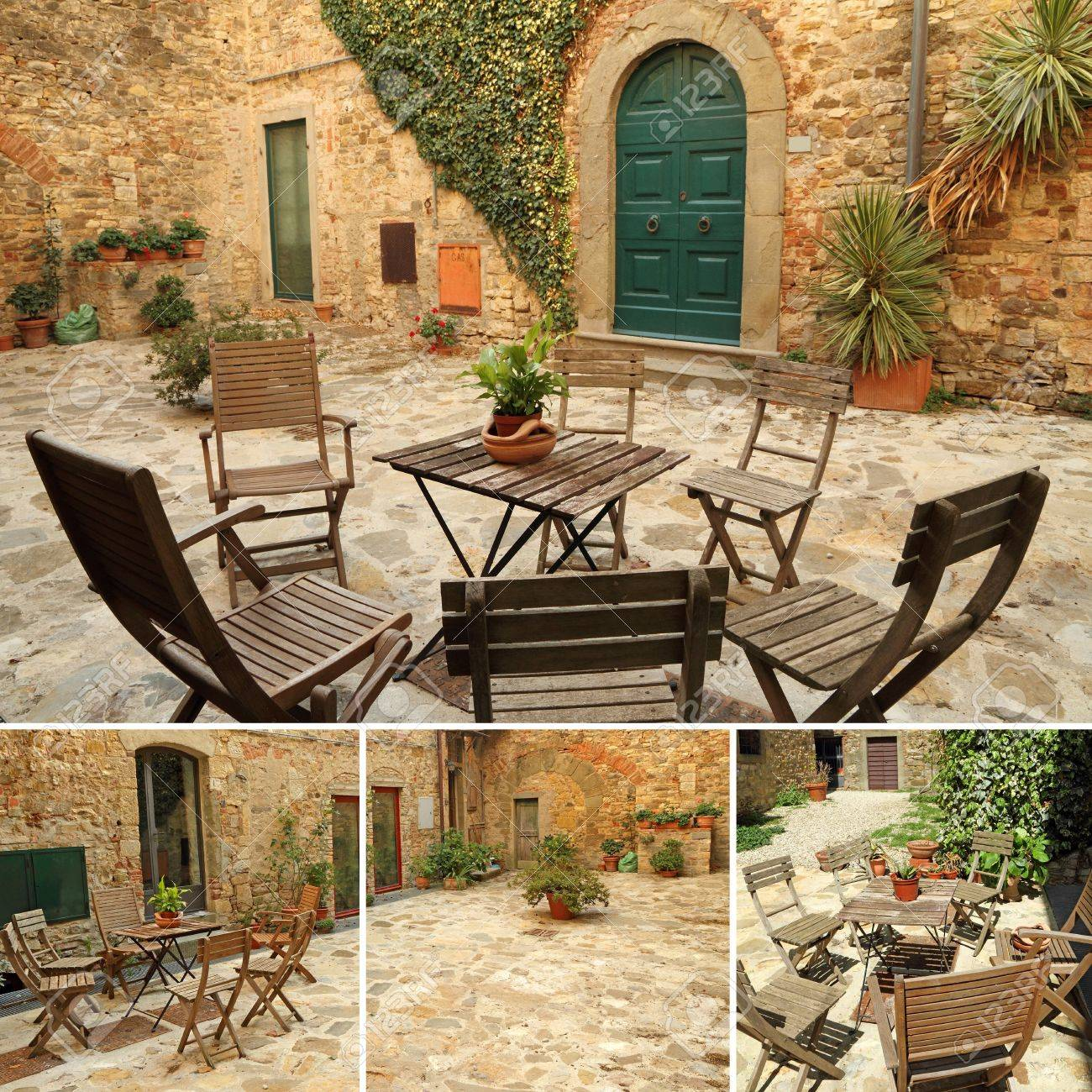 italian terrace tuscany europe stock photo picture and royalty