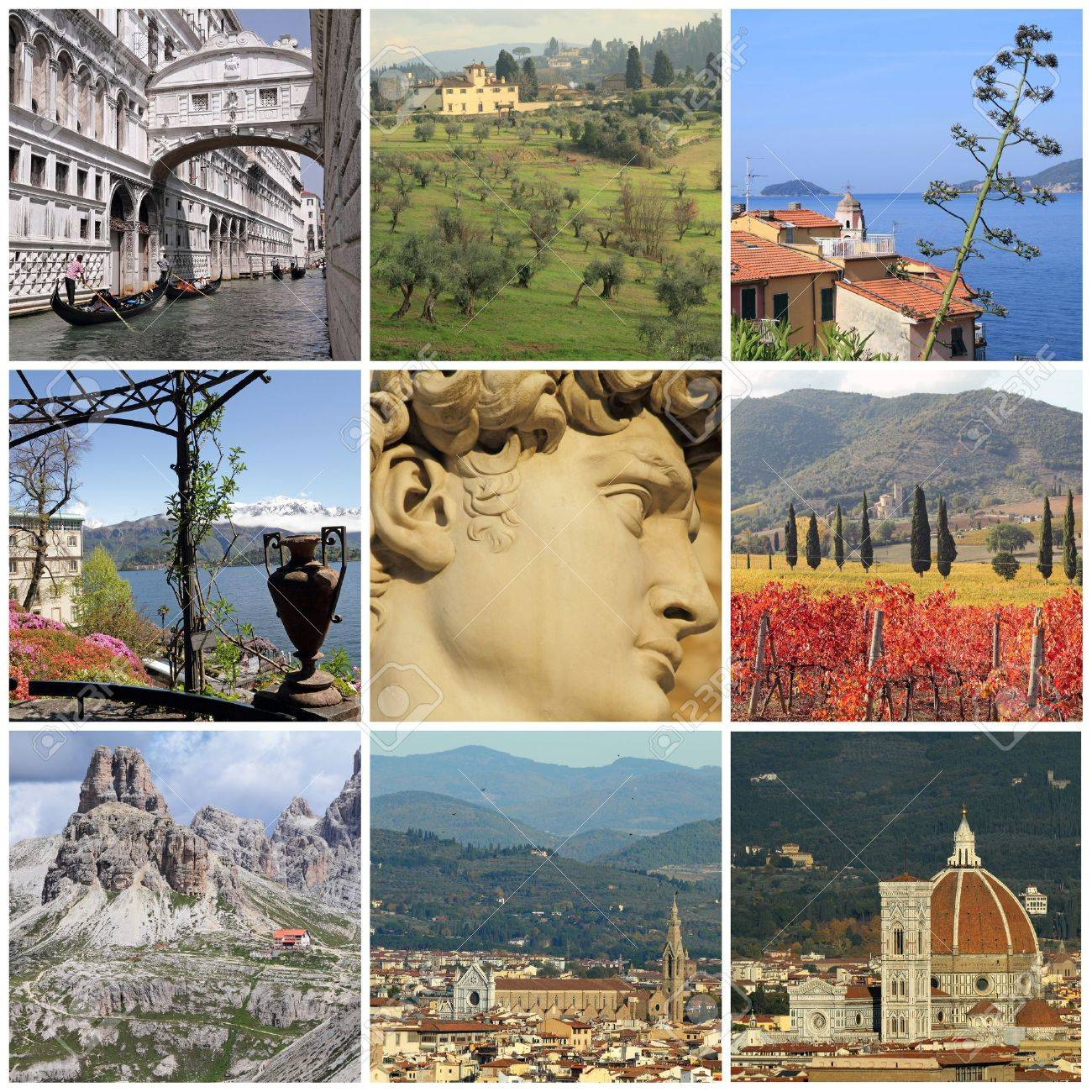 collage with world famous attractions of Italy, Europe Stock Photo - 14968633