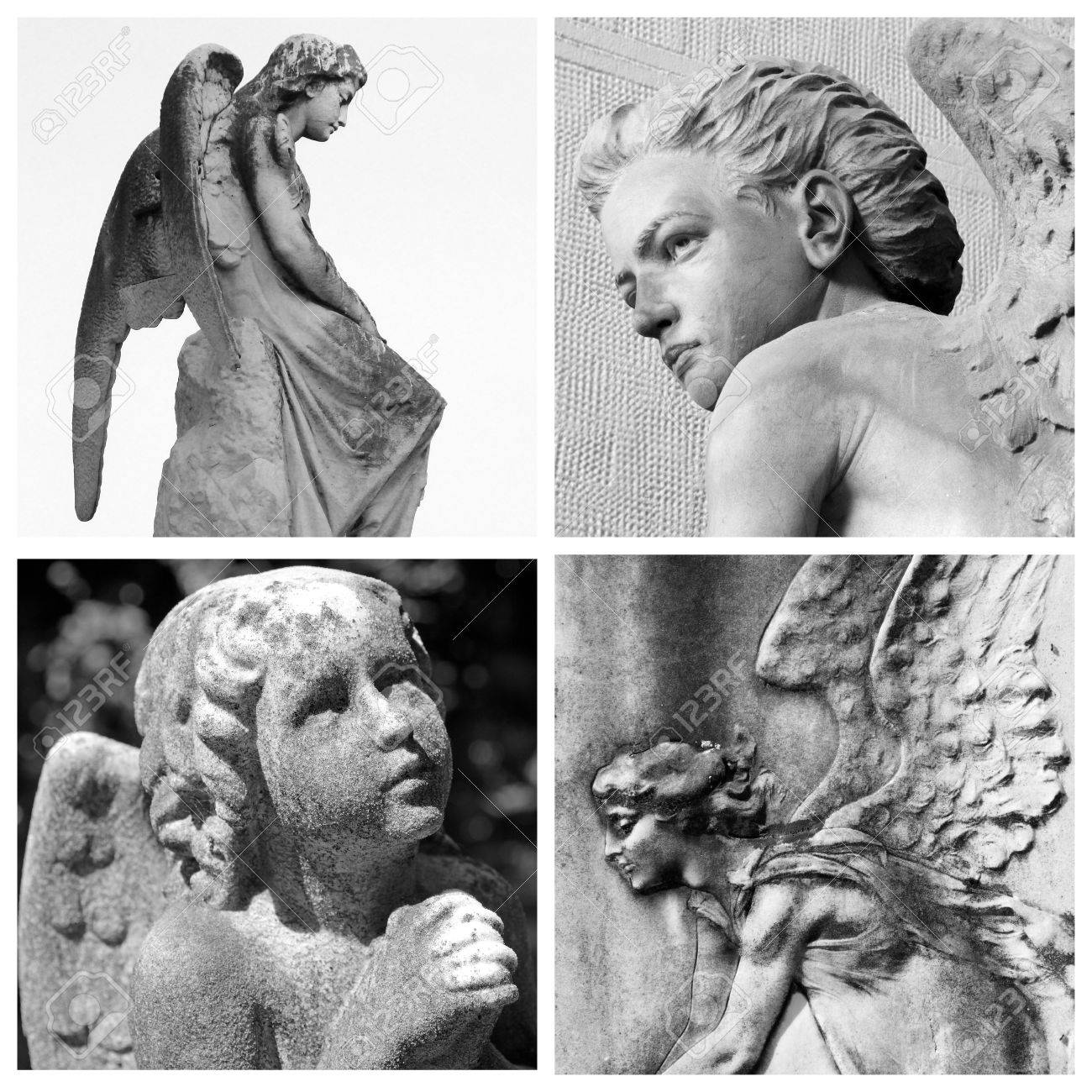 collage with cemetery angels Stock Photo - 15914547