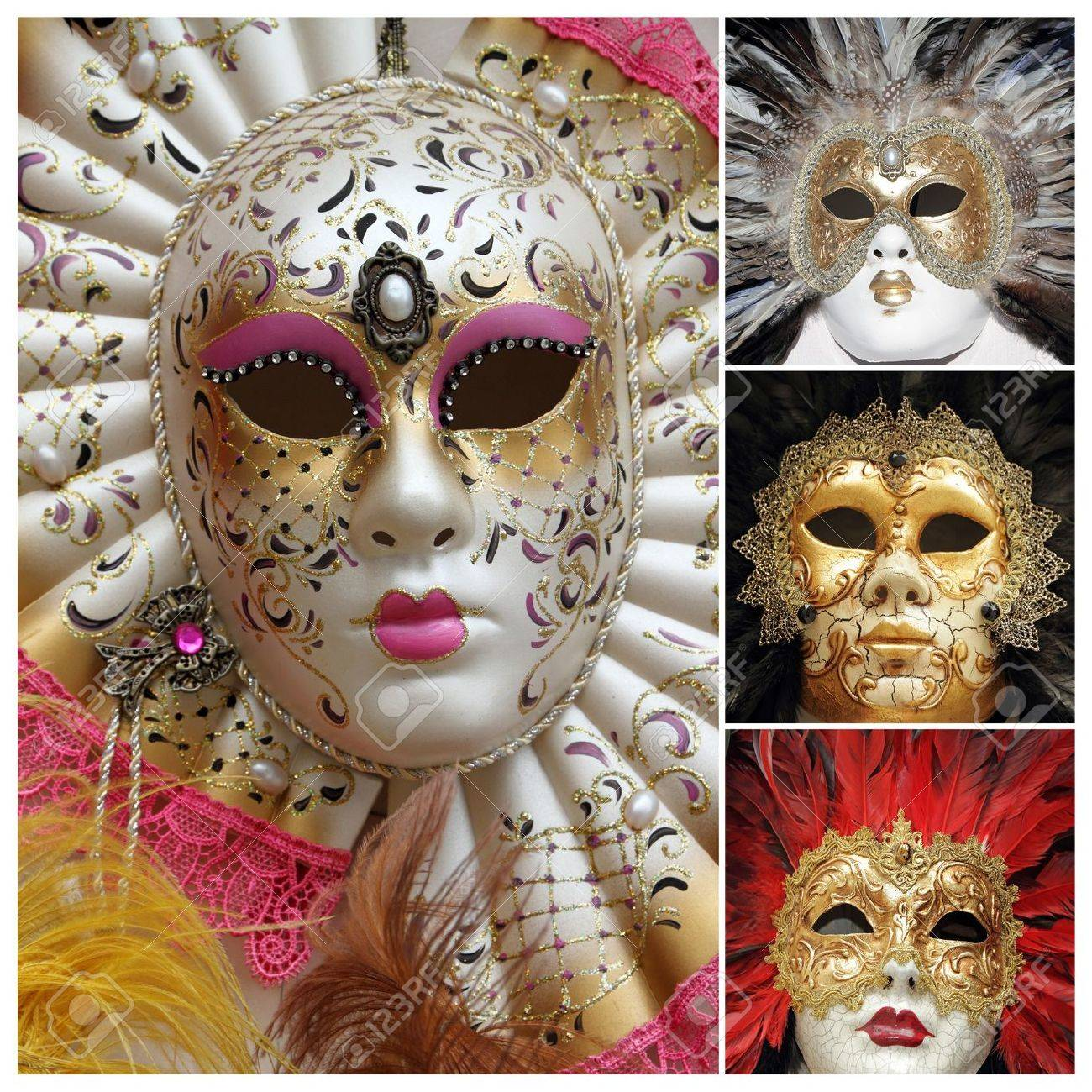 Cultural Masks From Europe venetian carnival masks poster