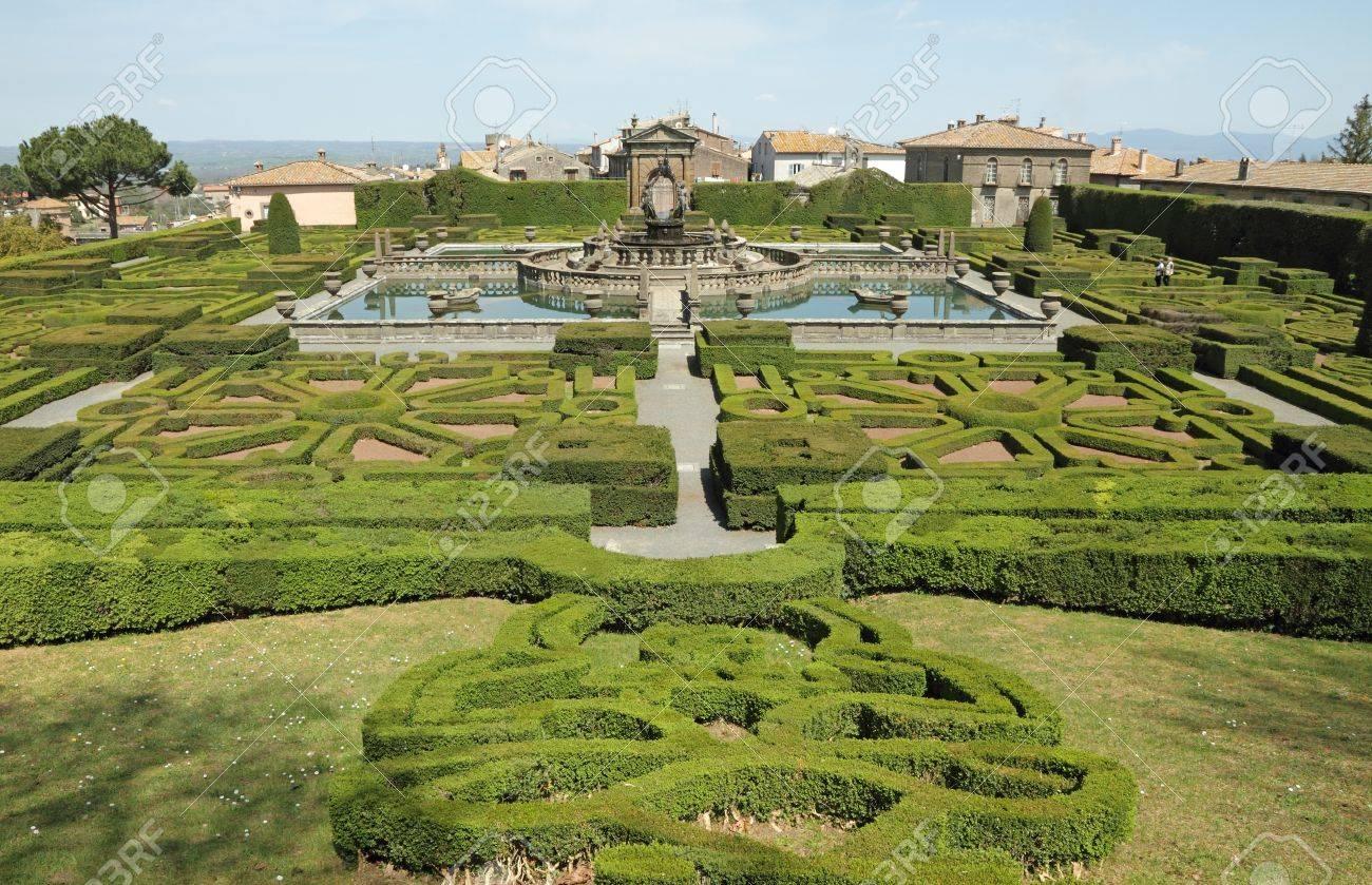Mannerist Garden Of Villa Lante In Bagnaia Near Viterbo, Lazio,.. Stock  Photo, Picture And Royalty Free Image. Image 19791447.
