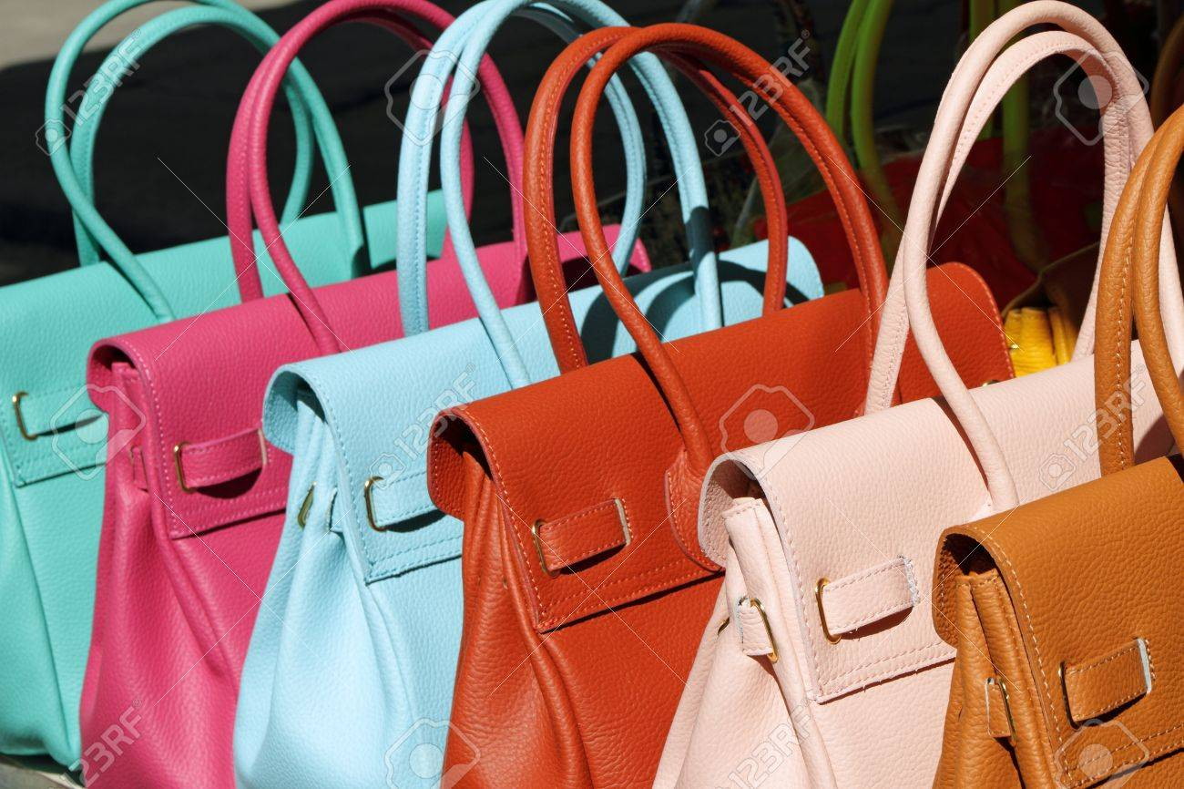 Colorful Leather Handbags Collection On Florentine Market ...