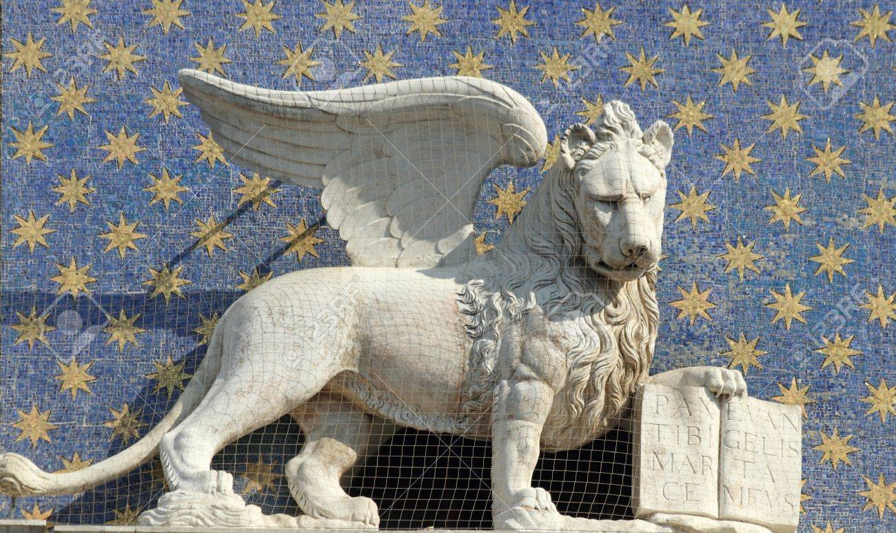 The symbol of venice winged lion of st mark holding a book the symbol of venice winged lion of st mark holding a book representing power wisdom biocorpaavc Gallery
