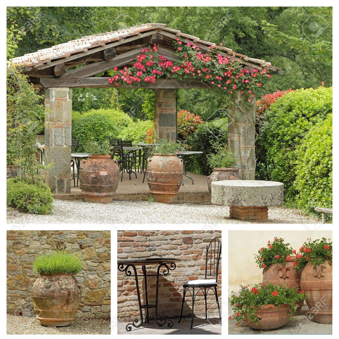 tuscan arbor collage italy stock photo picture and royalty free