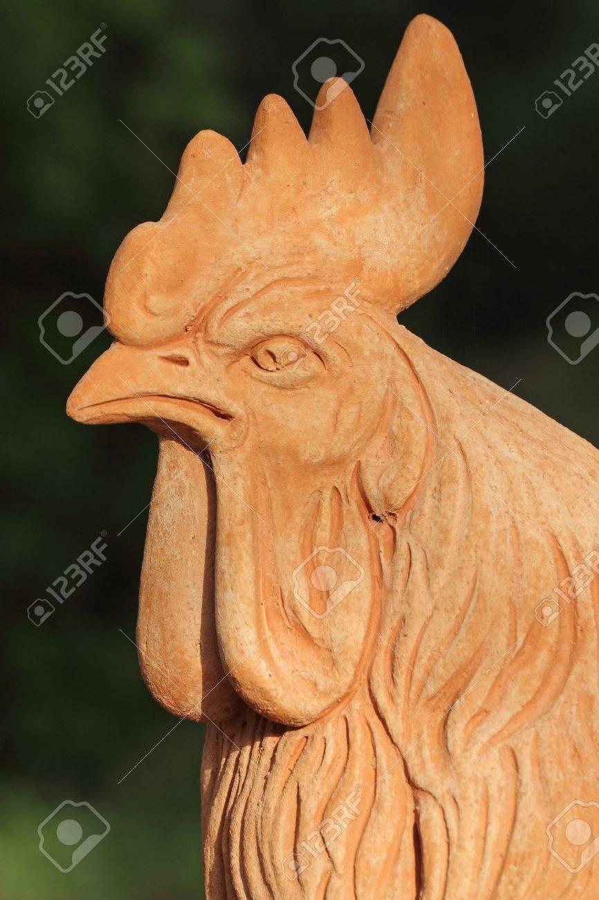 Tête De Coq En Terre Cuite Toscane - Décoration De Jardin, Florence ...