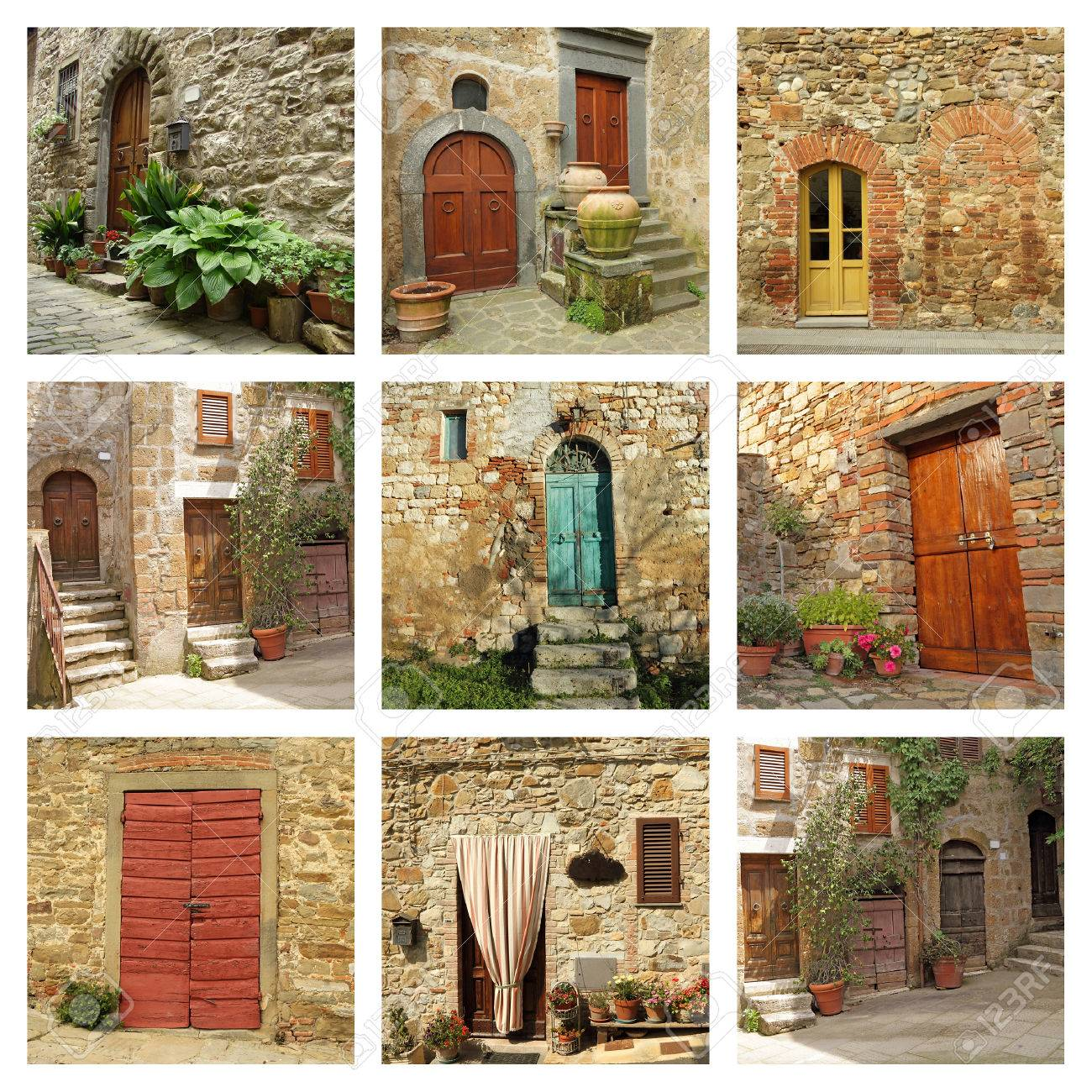 rustic tuscan doors collection Stock Photo - 25327845  sc 1 st  123RF.com & Rustic Tuscan Doors Collection Stock Photo Picture And Royalty Free ...