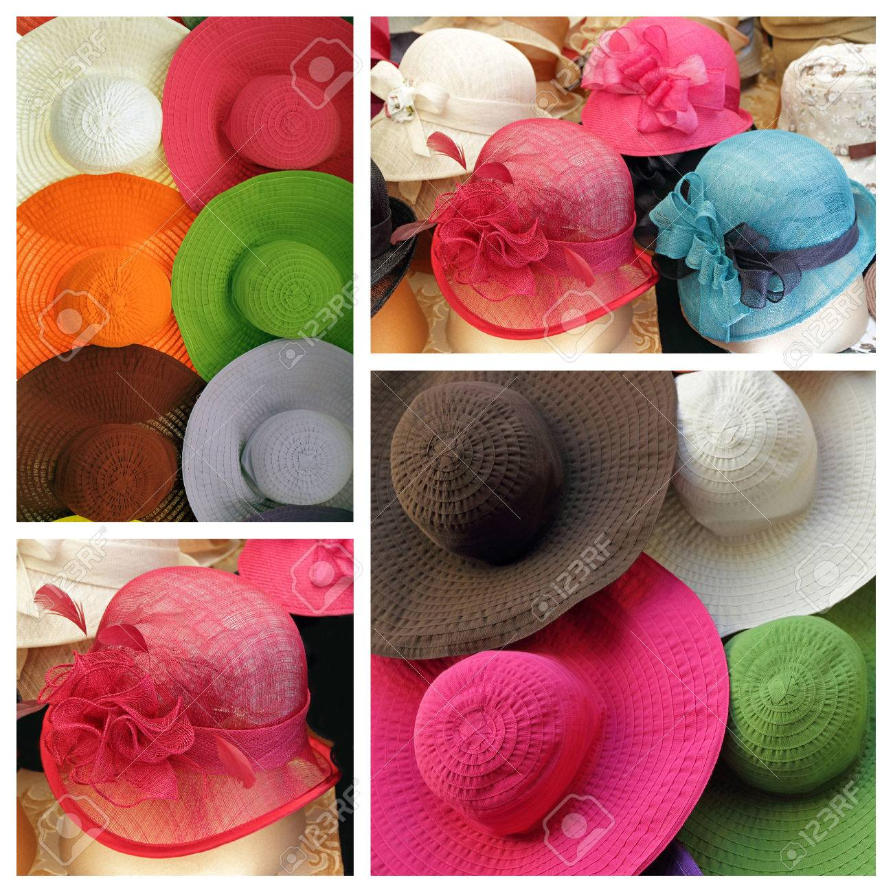 4c2885a948 Colorful Elegant Summer Women Hats Collage